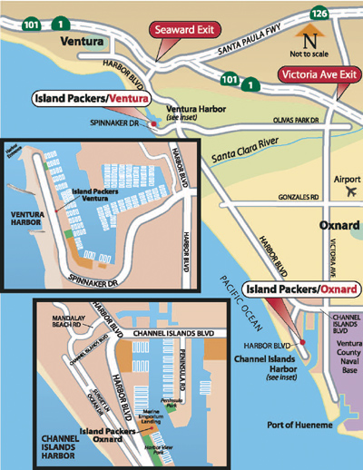 Channel Islands Port Map